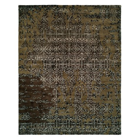 Madison Collection Handtufted Wool And Silkette Area Rug, Coffee (Assorted Sizes)