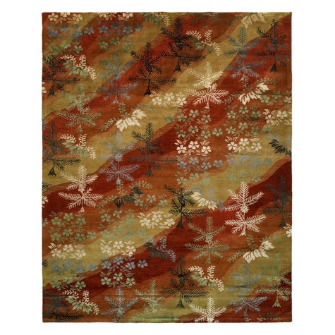 Madison Collection Handtufted Wool And Silkette Area Rug, Scarlet And Sand (Assorted Sizes)