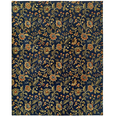 Newport Mansions Collection Hand-Tufted Wool Area Rug, Chateau Indigo
