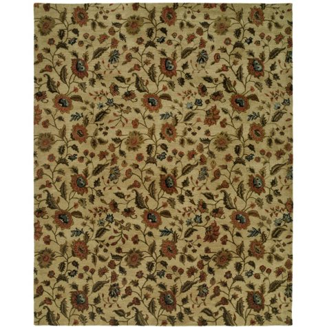 Newport Mansions Collection Hand-Tufted Wool Area Rug, Chateau Beige