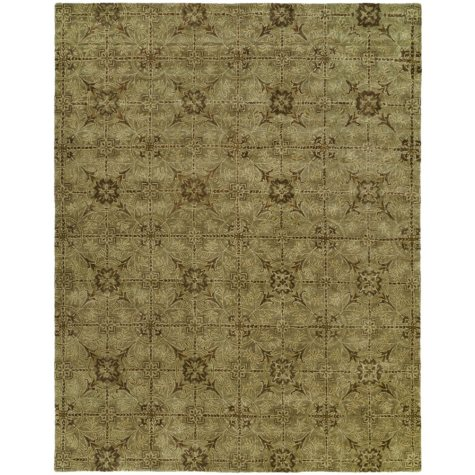 Newport Mansions Collection Hand-Tufted Wool Area Rug, Chateau Celadon