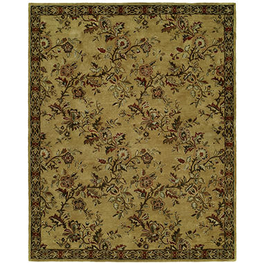 Newport Mansions Collection Hand-Tufted Wool Area Rug, Chateau Gold