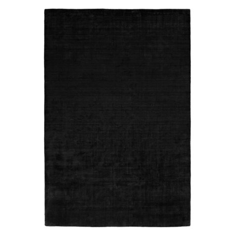 Nova Collection Handwoven Silkette Area Rug, Raven (Assorted Sizes)