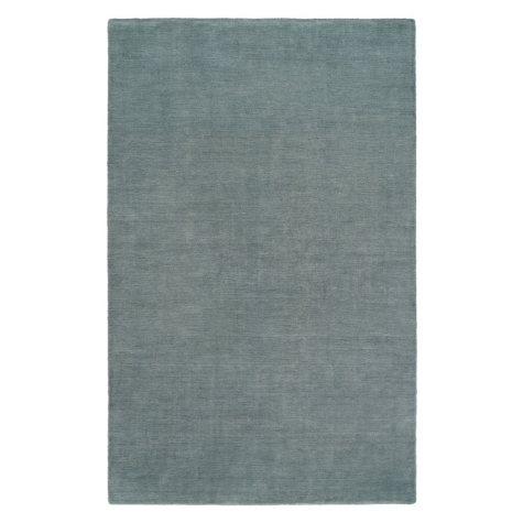 Nova Collection Handwoven Wool and Silkette Area Rug, Blue Mist (Assorted Sizes)