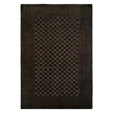 Nova Collection Handwoven Wool and Silkette Area Rug, Steel Gray (Assorted Sizes)