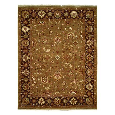 Royale Collection Handwoven Premium Wool Area Rug, Camel and Eggplant (Assorted Sizes)