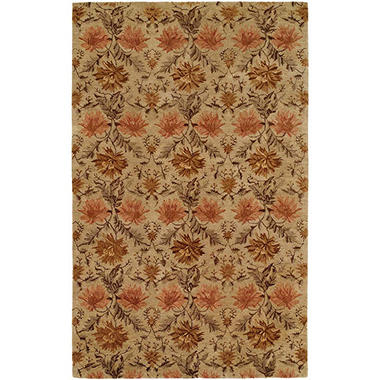 Terrazzo Collection Handtufted Premium Wool Area Rug, Sand (Assorted Sizes)