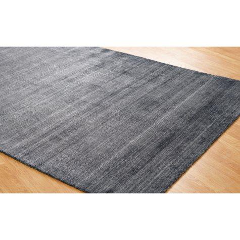 Meridian Collection Handmade Wool & Silkette Area Rug, Charcoal