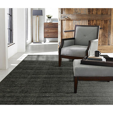 Terra Collection Handmade Wool & Silkette Area Rug, Graphite