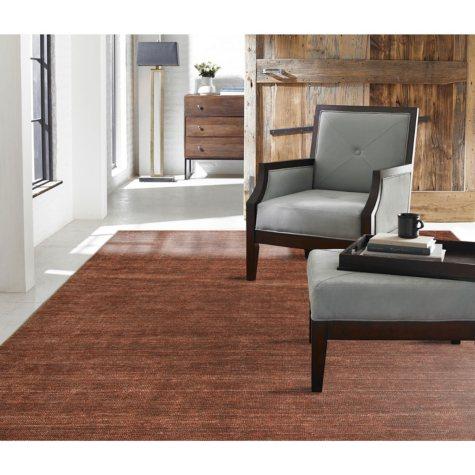 Terra Collection Handmade Wool & Silkette Area Rug, Allspice