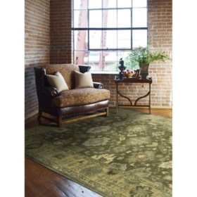 Seville Collection Handtufted Wool & Silkette Area Rug, Driftwood
