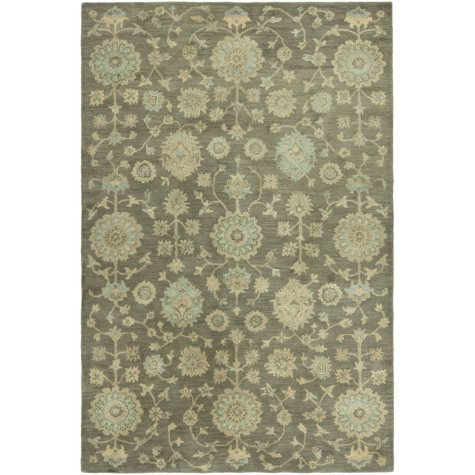 Seville Collection Handtufted Wool & Silkette Area Rug, Bark
