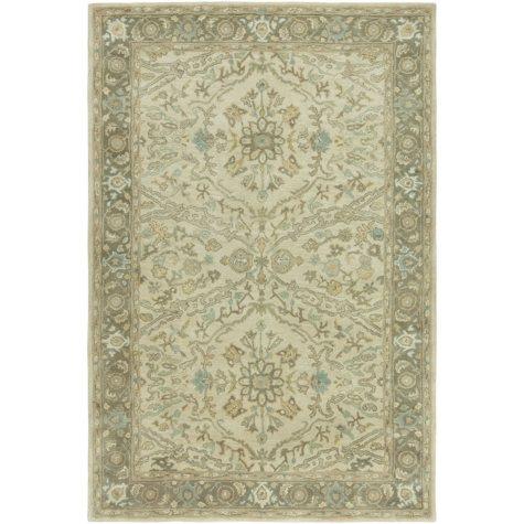 Seville Collection Handtufted Wool & Silkette Area Rug, Beige & Earth