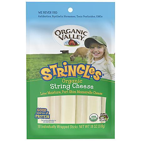 Organic Valley Mozzarella Cheese Stringles (18 ct.)