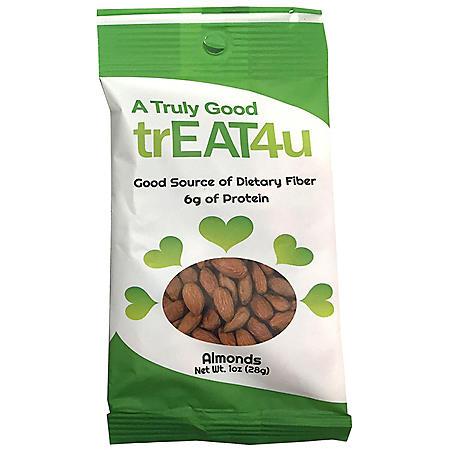 TrEAT4u Raw Almonds (1 oz., 24 pk.)