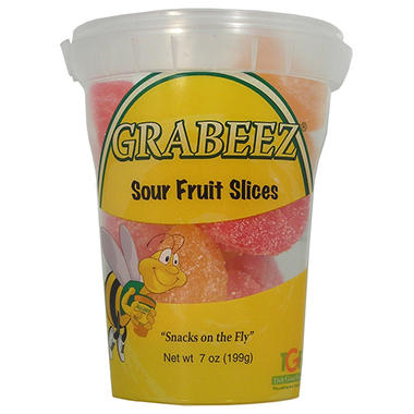 GRABEEZ Sour Fruit Slices (7 oz. cups, 12 ct.)