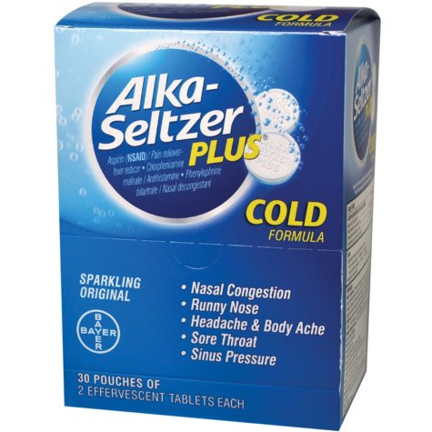 Alka Seltzer Plus (30 pouches, 2 caplets each)