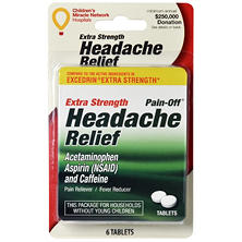 Extra-Strength Headache Relief Tablets, Acetaminophen, Aspirin, Caffeine (6 tablets, 6 ct.)