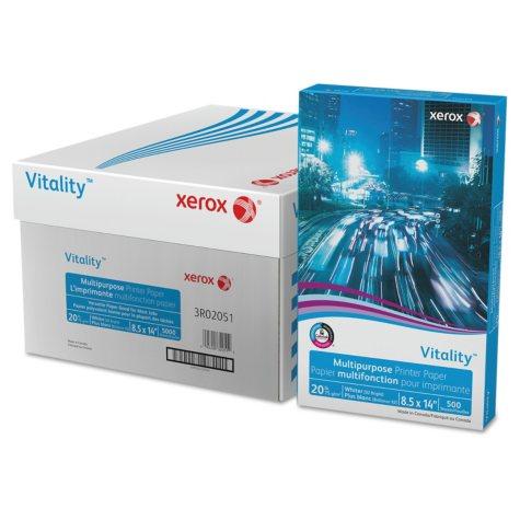 Xerox® Vitality Multipurpose Printer Paper, 8 1/2 x 14, White, 5,000 Sheets