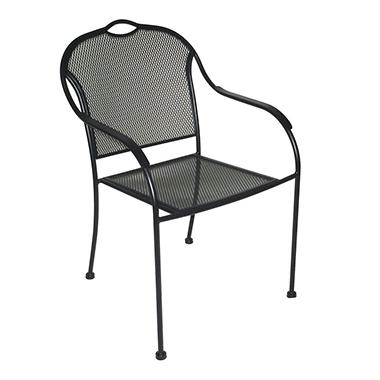 Wrought iron bistro chair sam 39 s club for Wrought iron cafe chairs