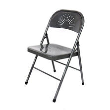 Shin Crest Decorative Metal Folding Chair, Select Color – 4-Pack