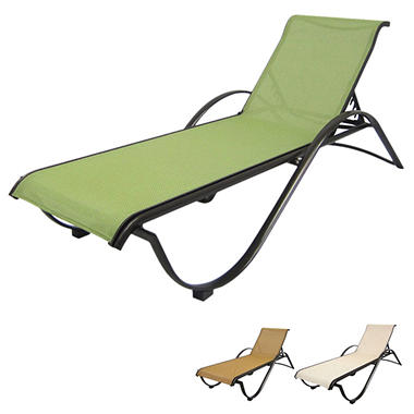 Aluminum Commercial Stack Chaise Lounge  sc 1 st  Samu0027s Club : stackable chaise lounge chairs - Sectionals, Sofas & Couches