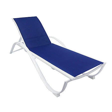 Aluminum Sling Chaise Lounge - Blue