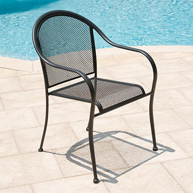 Commercial Wrought Iron Bistro Chairs - 2 pk.