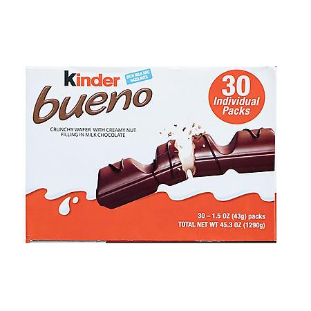 Kinder Bueno Bars, 30-Count