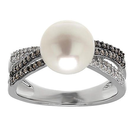 FWC PEARL RING .22TW DIAMOND- 925