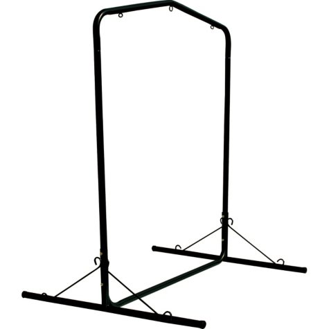 Deluxe Steel Black Textured Swing Stand