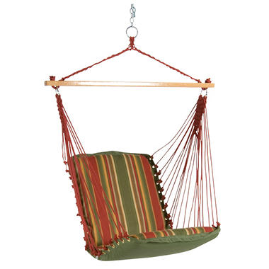 Trellis Garden Cushioned Single Swing