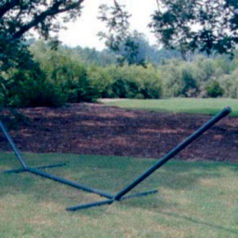 15' Heavy Steel Hammock Stand - Forest Green