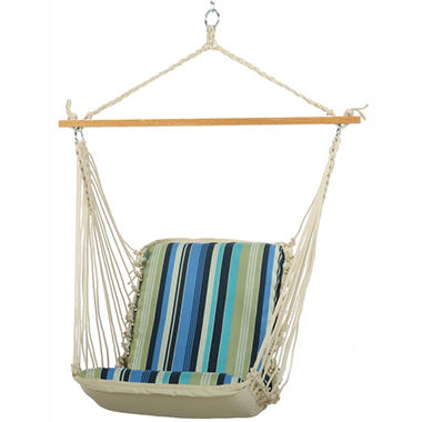 Beaches Stripe Cushioned Single Swing