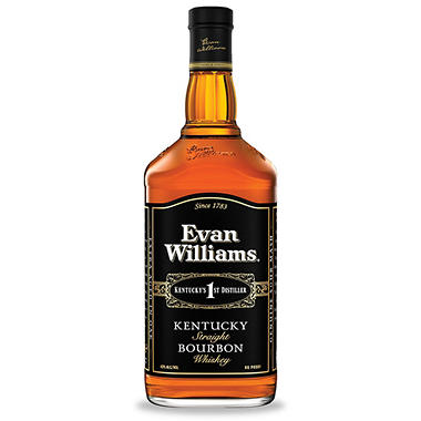 Evan Williams Black Label Kentucky Bourbon Whiskey (1.75 L)