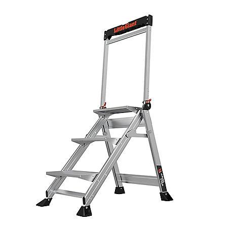 Little Giant Ladder Systems Jumbo Step 3 Step Step Stool