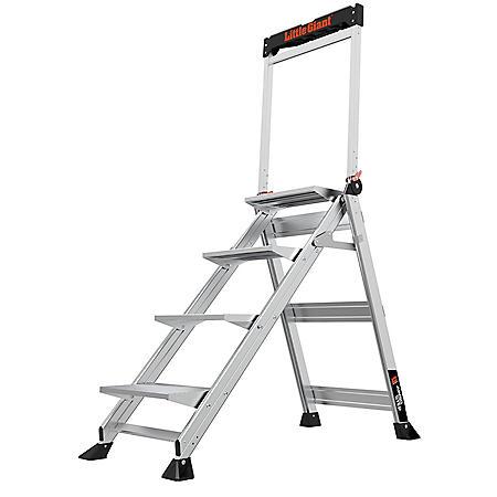 Little Giant Ladder Systems Jumbo Step 4-Step Step Stool