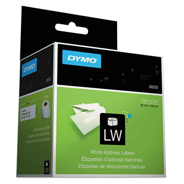 DYMO LabelWriter Address Labels, 1-1/8 x 3-1/2, White, 700ct.