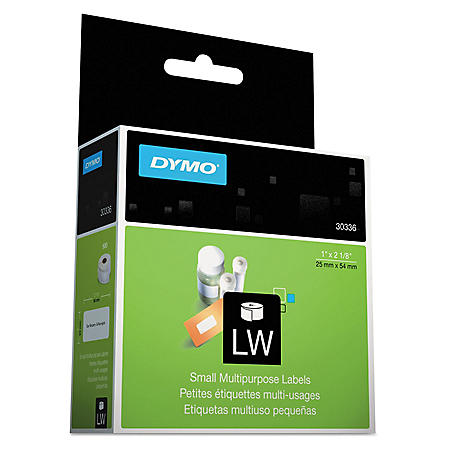 DYMO Multipurpose Labels, 1 x 2 1/8, White (500 ct.)