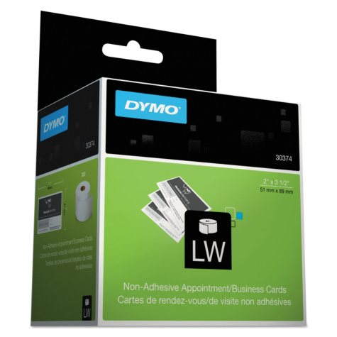 DYMO - Business/Appointment Cards, 2 x 3 1/2, White -  300/Box