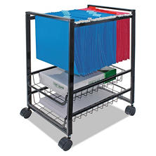 Advantus Mobile File Cart with Sliding Baskets, Black