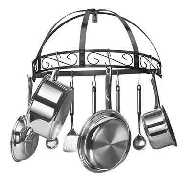Semi-Circle Pot Rack - Black