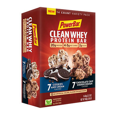 PowerBar Clean Whey Bars, Variety Pack (14 ct.)