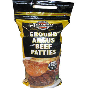 Jensen Ground Angus & Beef Patties - 18 ct.