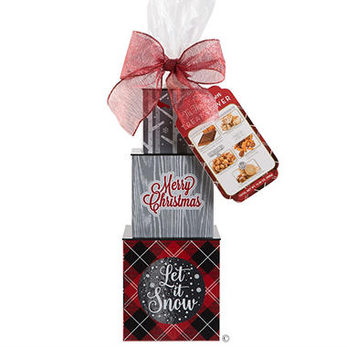 'Tis the Season Gift Tower (Red)