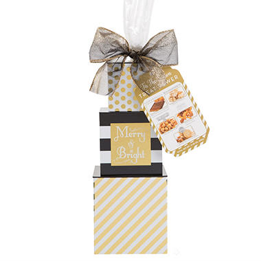'Tis the Season Gift Tower (Black and Gold)