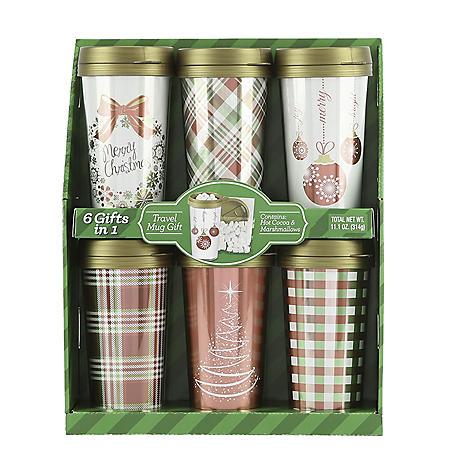 Red and Green Travel Mug Gift Sets (6 pk.)