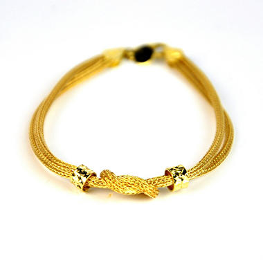 Love Earth 14k Yellow Gold Knot Bracelet Sam S Club