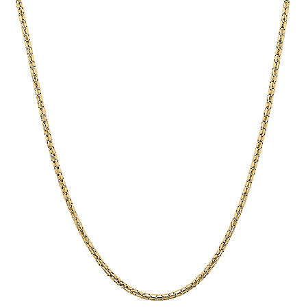 18'' Bird Cage Chain Necklace in 14K Yellow Gold