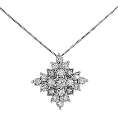 047 ct tw diamond snowflake pendant in 14k white gold sams club tw diamond snowflake pendant in 14k white gold aloadofball Image collections